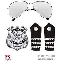 Baukästen & Konstruktion 1x Lego Figur Polizist Polizei Marke Krawatte blau Brille schwarz Basecap cty106