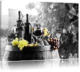 gemischte Auslese an Weintrauben schwarz/weiß Format: 60x40 auf Leinwand, XXL riesige Bilder fertig gerahmt mit Keilrahmen, Kunstdruck auf Wandbild mit Rahmen, günstiger als Gemälde oder Ölbild, kein Poster oder Plakat