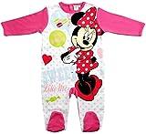Minnie Mouse Kollektion 2017 Strampelanzug 56 62 68 74 80 86 92 Strampler Einteiler Maus Disney Rosa (86-92, Weiß-Rosa)