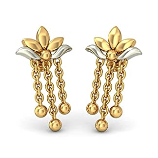 BlueStone 22k (916) Yellow Gold Dhanishta Drop Earrings