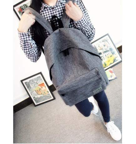 Diswa Classical Unisex Backpack for Women Nylon Child School Bag Special Use for Picnic 30 * 40 * 16 cm (Gray) Image 8