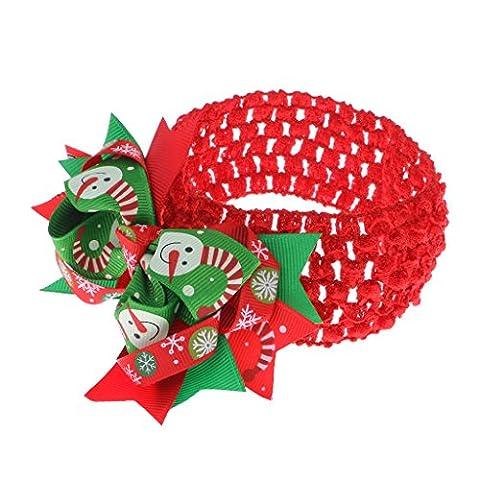 Gazechimp Weihnachten Baby Kinder Mädchen Bowknotstirnband Weihnachts Haarschmuck Kopfbügel Stirnband Weihnachtsschmuck - Multi4, Einheitsgröße