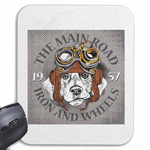 Reifen-Markt Mousepad (Mauspad) The Main Road Hund MIT PILOTENMÜTZE UND Brille Hundezucht HAUSHUND HUNDEZWINGER ZÜCHTER WELPE ERZIEHUNG Pflege für ihren Laptop, Notebook oder Internet PC (mit Windows (Brille Mit Pilotenmütze)
