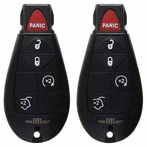 2keylessoption Ersatz Schlüssel Fernbedienung Zündschlüssel Combo Keyless Entry-bodenluke und Remote Start (Clicker-folien)