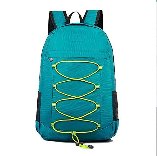 Ruanlei @ tela casual zaini viaggio/ laptop backpack / multifunzione zaino business/ backpack resistente all'acquail multi-purpose outdoor travel double borsa a tracolla, ciano