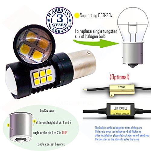 Preisvergleich Produktbild Wiseshine baz15s led birne lampen DC9-30v 3 Jahre Qualitätssicherung (2 Stück) baz15s 22smd 3030 blau