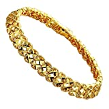 Onefeart Vergoldet Armband Für Frauen Mädchen 18K Vergoldet Hohl Design Damen Handkette 17.5CM Gold