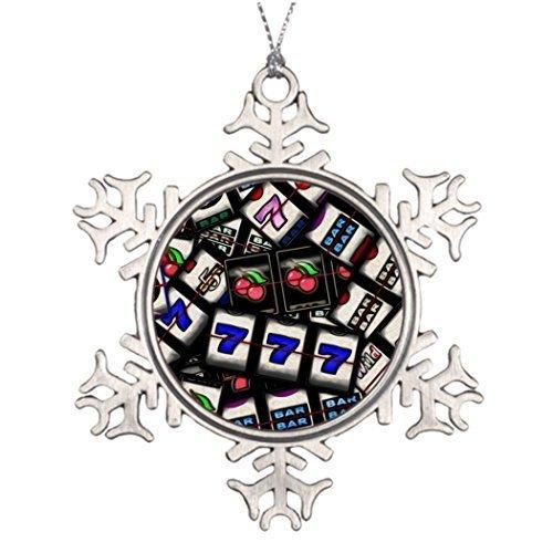 Acove Metall Ornamente Baum Dekorationsideen Collage von Slot Maschine Rollen Halloween Baum Schneeflocke Ornamente Retro Weihnachten Dekoration -