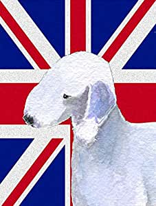 Caroline 's Treasures ss4925chf Bedlington Terrier mit englischem Union Jack British Leinwand House Flagge