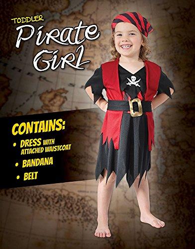 Imagen de disfraz de niña de pirata del caribe. 3 años alternativa