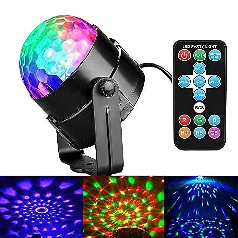 LED Disco Ball Party Lichter, mit Fernbedienung DJ Beleuchtung Sound aktiviert Lichter 3W 7-modes Disco Stage Licht für Home Raum Dance Partys Geburtstag DJ Bar Karaoke Xmas Hochzeit zeigen Club Pub