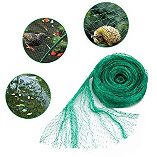 GROWNEER 33x13 Ft Anti Bird Net, Green Garden Plant Protection Netting, Garden Plant Fruits Net Mesh, Protect Fruits from Rodents Birds
