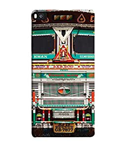 PrintVisa Designer Back Case Cover for Huawei P8 (Truck Art Blow Horn Use Dipper at Night Roads Tough Sturdy )