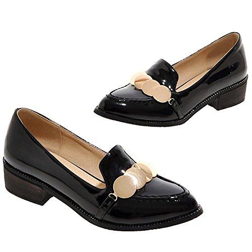 ENMAYER Frauen Schöner Platz mit der Auswahl der Schlupfsuperhellen Süßigkeiten lässige Mode Schuhe Schwarz