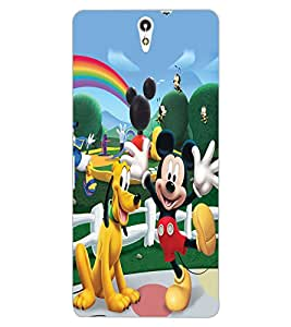 ColourCraft Lovely Cartoon Characters Design Back Case Cover for SONY XPERIA C5 E5553 / E5506