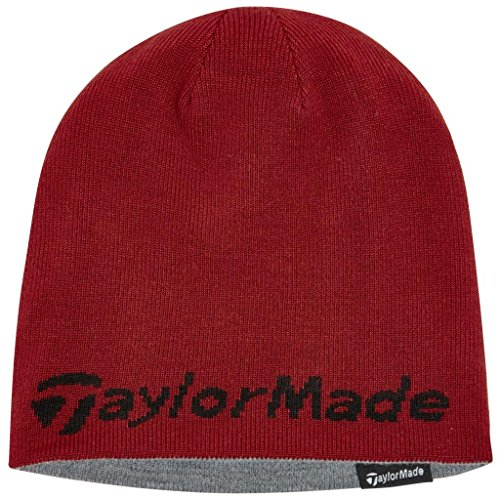 2015-taylormade-reversible-thermal-golf-beanie-double-knitted-mens-hat-red