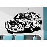 Wandtattoo Audi Sport quattro 1985 Größe L