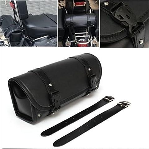 LEAGUE&CO Universal Motorradtasche Satteltasche Gepäcktaschen Werkzeugtasche Rahmentasche Verschiedene Stile Tasche für Harley Davidson Yamaha Honda BMW Suzuki usw. (Chrome Cruiser Satteltaschen-)