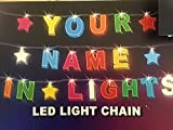 ANY NAME IN LIGHTS // LED Light Chain with any name available up to 8 letters or characters get YOUR NAME IN LIGHTS!