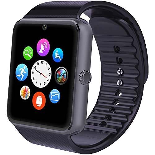Smartwatch Android, Willful Smart Watch Telefono con SIM Card Slot Fotocamera Cronometro OLED Touch Screen Orologio Fitness Watch Android Wear per iPhone Samsung Sony Android iOS Smartphone per Donna Uomo Sports Running ( Pedometro, Calorie, Distanza, Monitor del Sonno, Notifiche Chiamate & SMS, Notifiche APP ( WhatsApp, Facebook, Skype...), Lettore Video & Musica, Telecomando Fotocamera, Sveglia )?No APP per iPhone?