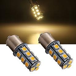 Everbright 10-Pack estremamente luminoso 1156BA15S 1141107310951003750618-SMD 5050LED lampadina di ricambio per interno auto rv Camper Turn Backup Parking Side Marker lampada luci DC 12V
