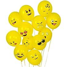turelifes Emoji Serie palloncini in lattice Smiley Face Cute Ballons 100Pack giallo