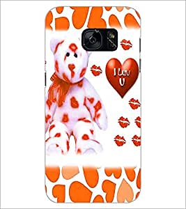 PrintDhaba Love D-1338 Back Case Cover for SAMSUNG GALAXY S7 (Multi-Coloured)