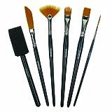 #10: DERWENT Technique Brush Set with 6 Assorted Brush Designs