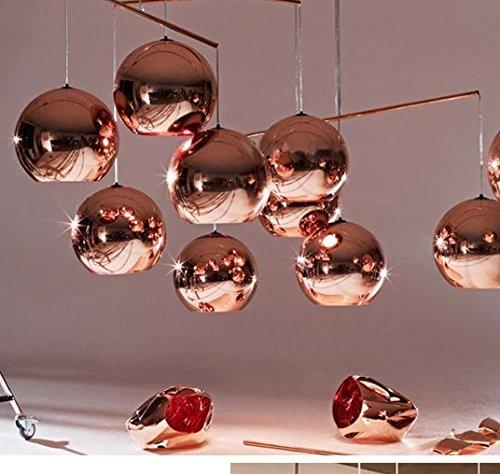 Moderne DIY Decke lampe glas kugel Anhänger Beleuchtung Lampe Home Rose Gold, single, 400 mm (Glas-decke-anhänger)