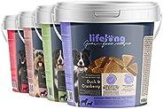 Marchio Amazon - Lifelong - Snack per cani, senza grano, con mono - proteina, selezione mista con Superfood (4