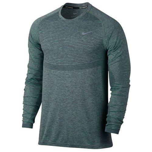 Nike Dri-Fit Knit LS Herren Top Long Sleeve Hasta/Grünes Glühen/Reflektierend Silber