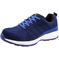 Randonnée Chaussures Hommes Imperméable à La Cheville Léger Respirant Casual Sécurité Smash-Preuve Piercing Chaussures De Protection,Blue-40
