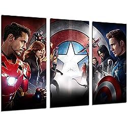 Poster Moderno Fotografico Capitan America, Los vengadores, Cine, 97 x 62 cm, ref. PST26372