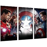 Cuadros Cámara Poster Fotográfico Capitan America, Los Vengadores, Cine, Multicolor, 97 x 62 cm XXL