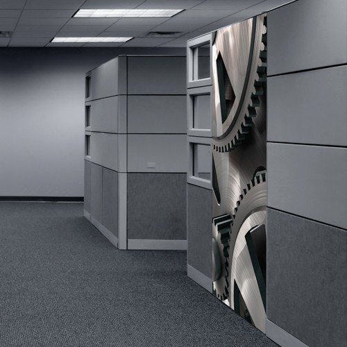 Preisvergleich Produktbild Selbstklebende Türfolie Türtapete - Türposter -Übersetzung- 85 x 210 cm 1-teilig / Fototapete Motor Getriebe Zahnrad
