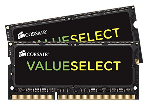 Corsair Value Select - Módulo de memoria SODIMM de 16 GB (2 x 8 GB, DDR3, 1333 MHz, CL9) (CMSO16GX3M2A1333C9)
