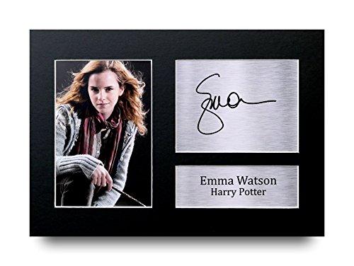 Emma Watson Los Regalos Firmaron A4 la Dedicatoria Impresa Harry Potte