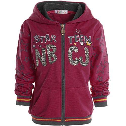 BEZLIT -  Felpa con cappuccio  - Camicia - Basic - Collo a U  - Maniche lunghe  - ragazza Pink 12 anni