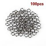 100pcs/lotto accessori professionali per argento nylon Dart albero anelli in acciaio INOX per freccette alberi freccette caccia Dardos Misura unica Sliver