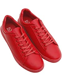 ROSSO BRUNELLO Men's Red Sneakers Running Shoes