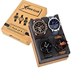 #7: Rich Club Pack Of 4 Multicolour Analog Analog Watch For Men And Boys