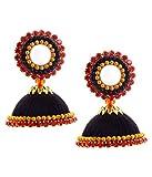 #7: Multiline company Black Silk Thread Jhumki Earring For Women