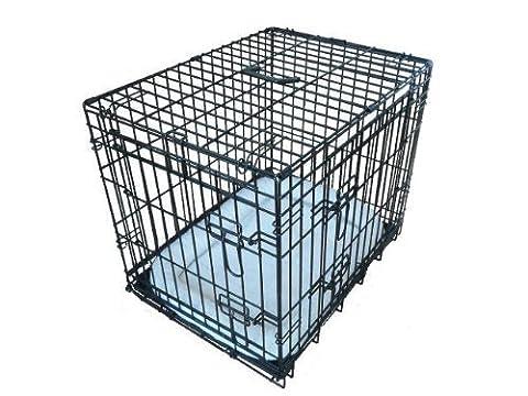 Ellie-Bo Käfig, zusammenklappbar, mit 2Türen und Kissen