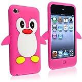 ShopmallHK Pingouin / Manchot Mignon Étui / Housse / Coque en Silicone pour iPod Touch 4 / 4G - Rose