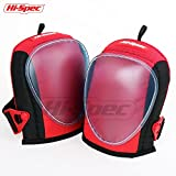 Hi-Spec Heavy Duty Professional Knee Pads with Layered Gel, Foam Padding, Wide Straps and Tough Outer Shell for DIY, Construction, Gardening, Roofing, Laying Carpet & Flooring. Universal Size (2 Piece)