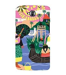 PrintVisa Colorful Tribal Scenery 3D Hard Polycarbonate Designer Back Case Cover for LG Gpro Lite