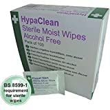 Safety First Aid Essential plaie Nettoyage HypaClean stérile Lingettes humides