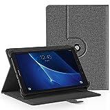 EasyAcc 360 Grad Drehung Universal 10 Zoll Tablet Hülle für Vankyo Tablet 10 Zoll/TAOERA 10.1/ Dragon Touch K10/ Android 8.1 Tablet 10 Zoll/TOSCIDO X102 Tablet 10/ Medion Lifetab S10321 - Grau