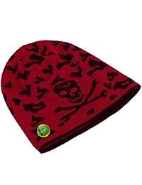 LOCOMO Skull Skeleton Pattern Knit Beanie Toque Crochet Rib Hat Cap FFH300BLK