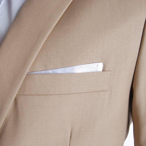 FLATSEVEN Homme Slim Fit Premium Blazer Veste Beige